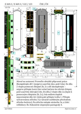 E 469.2 / E 469.3 / 122 / 123 ČSD / ČD 4 3a 3 2 2a 2d