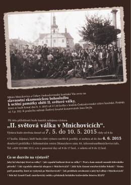 """""""II. světová válka v Mnichovicích""""."""