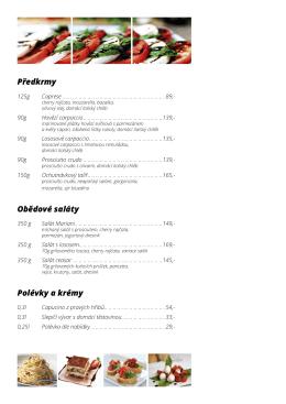 Jídelní lístek restaurace otevřete zde ve formátu pdf