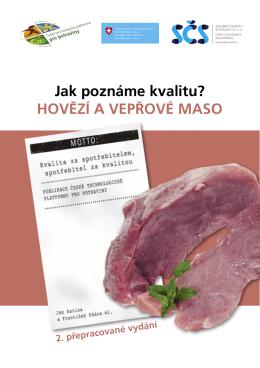 HOVĚZÍ A VEPŘOVÉ MASO - Sdružení českých spotřebitelů