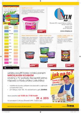ukázky použití barev a laků panem MIROSLAVEM