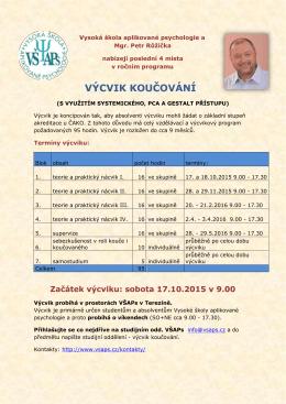 Roční výcvik koučování – 2015-01