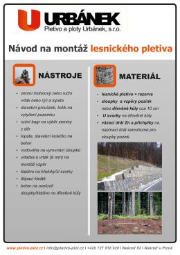 Návod na montáž lesnického pletiva - Pletivo