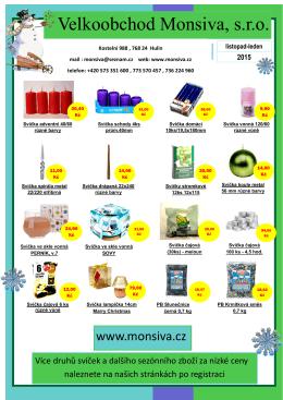 Vážení zákazníci, využijte cenové zvýhodnění svíček a vánočních