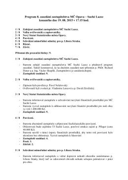 Zápis z 8. zasedání