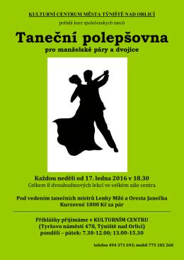 Taneční polepšovna - Týniště nad Orlicí