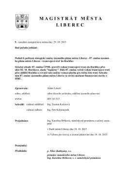 87. změna ÚPML - Statutární město Liberec