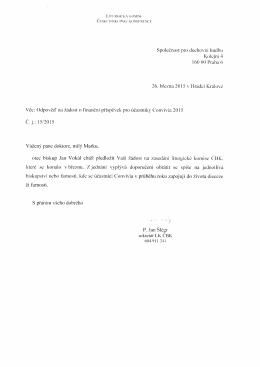 Spolecnost pro duchor,`ni hudbu Kolcini .l 160 00 Praha 6 26