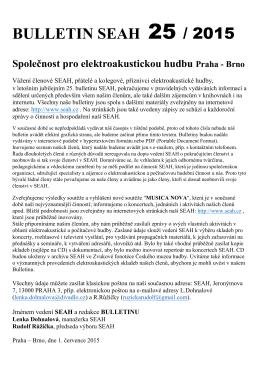 Bulletin SEAH 25/2015