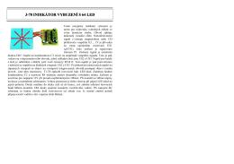 Indikátor vybuzení s 64 LED (743) - návod