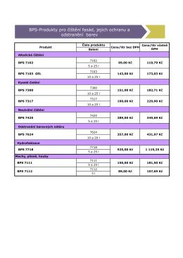 BPS-Produkty pro čištění fasád, jejich ochranu a