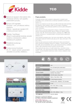 Popis produktu Bateriové napájení (3ks baterie AA