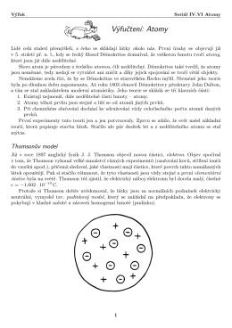 Seriál IV.VI Atomy, Výfuk