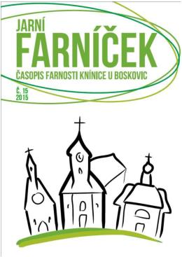 2015 – Jarní Farníček - Římskokatolická farnost Knínice u Boskovic