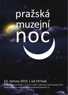Brožura - pro tisk - Pražská muzejní noc
