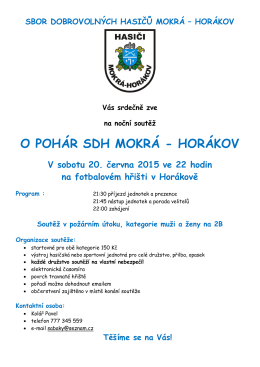 O POHÁR SDH MOKRÁ - HORÁKOV