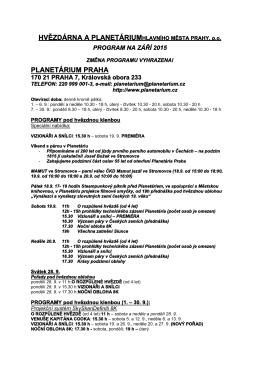 Program září 2015