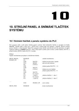 Strojní panel a snímání tlačítek systému