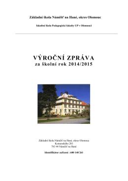O činnosti 2014/2015 - Základní škola Náměšť na Hané