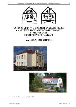 Základní škola a Mateřská škola Ostrava