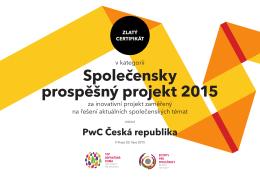 Společensky prospěšný projekt 2015