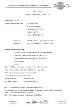 Zápis z jednání školské rady 9.10.2015