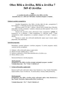 Zápis č. 5 ze zasedání OZ dne 23. 03. 2015