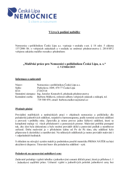 VZMR4-2015 - Nemocnice s poliklinikou Česká Lípa