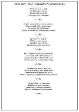 Jídla z ryb / Fish /Fischgerichte / Блюда из рыбы