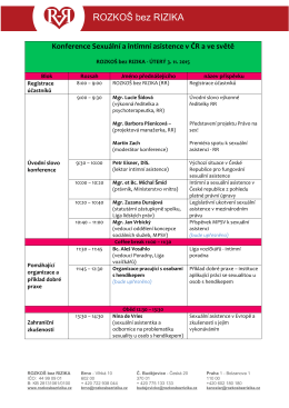 Konference Sexuální a intimní asistence v ČR a ve světě