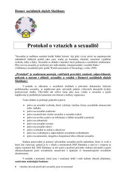 Protokol o vztazích a sexualitě - Domov sociálních služeb Slatiňany