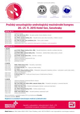 Pražský sexuologicko-andrologický mezinárodní kongres 20.–21. 11