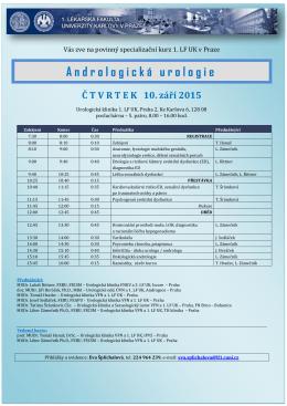 Specializační kurz 1.LF UK Andrologická
