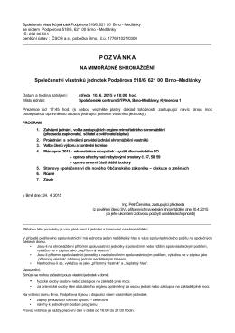 SVJ0518 – pozvánka na shromáždění + plná moc 2015-06