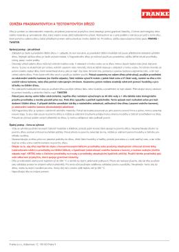 Údržba fragranitových a tectonitových dřezů(410.99 kB, PDF)
