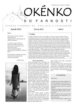 Okénko do farnosti 6/2015 (formát pdf) - Letohrad