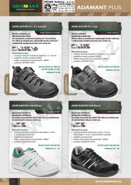 Pracovní obuv ADAMANT RAPIDO polobotky OB SRC - bílé