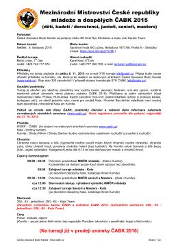 Mezinárodní Mistrovství České republiky mládeže a dospělých