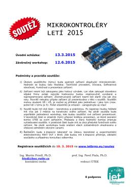 Mikrokontroléry letí 2015