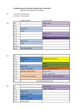 Předběžný časový program