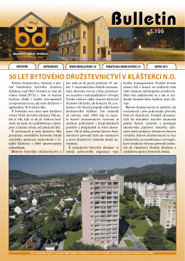Bulletin - SBD Klášterec nad Ohří