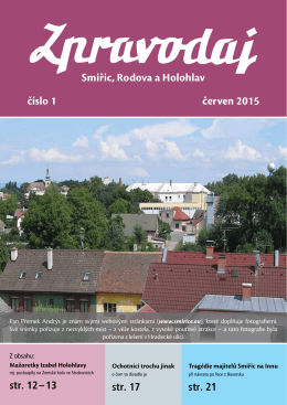 Smiřic, Rodova a Holohlav číslo 1 červen 2015
