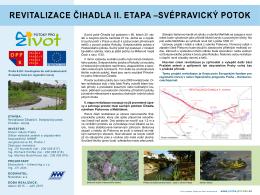 Stavba: Revitalizace Čihadla II. Svépravický potok, Chvalka