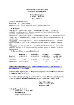 propozice C. D - AZ CENTRUM Havlíčkův Brod