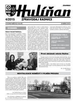 Hulíňan č. 4/2015