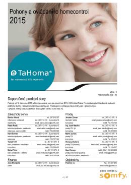 Doporučené prodejní ceny 2015 io-Homecontrol EUR