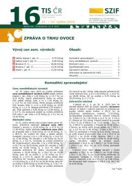 ZPRÁVA O TRHU OVOCE - Státní zemědělský intervenční fond