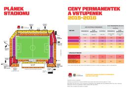Plánek Stadionu Letná a ceník 2015