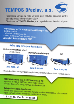 Akční ceny pronájmu kontejnerů