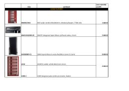 číslo sortiment cena výprodej vč.DPH KM450/1810 KDO sušák
